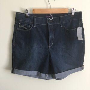 NYDJ | Dark Wash Denim Cuffed Shorts Size 14